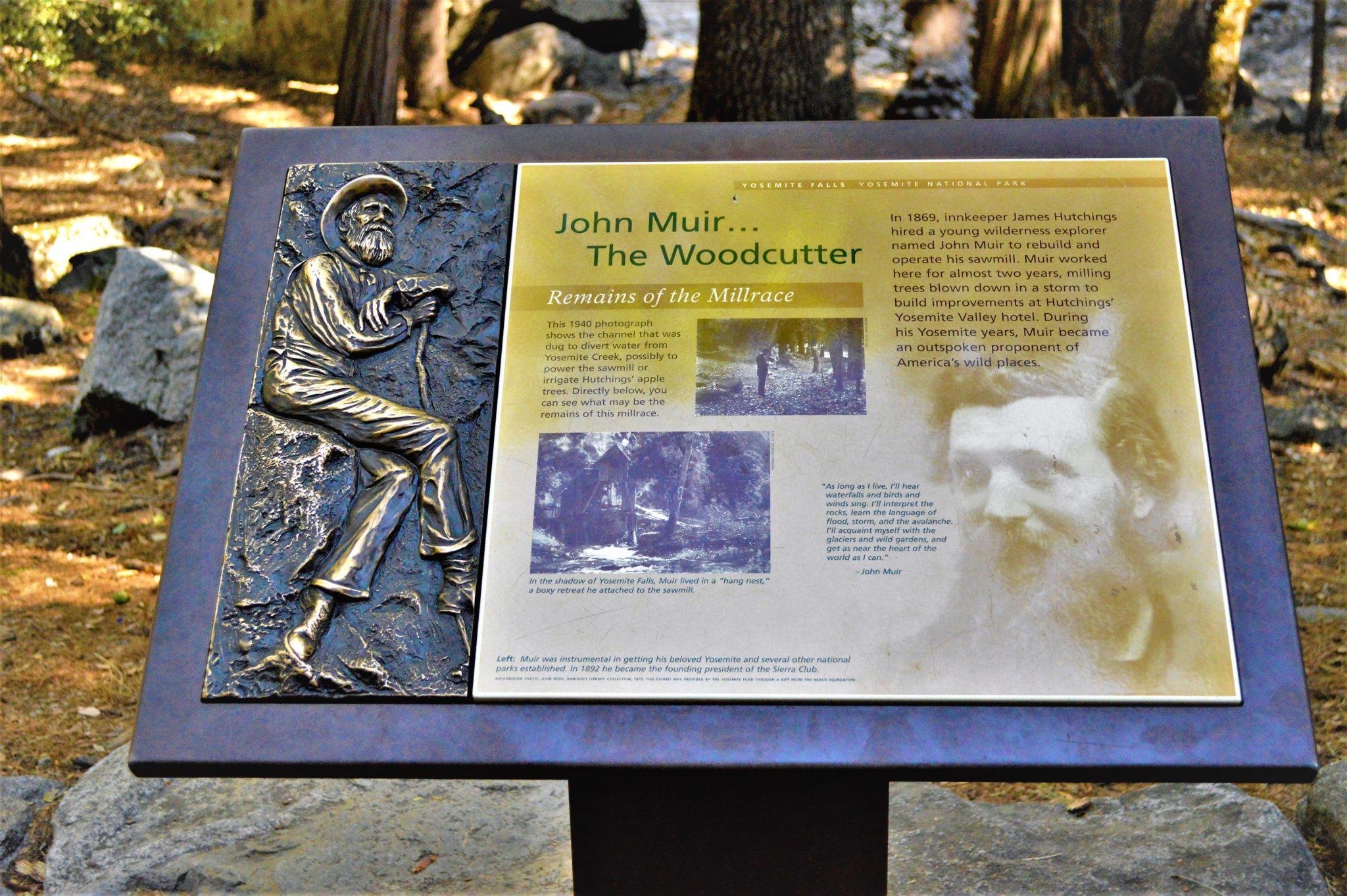 John Muir sign, Yosemite National Park, California, USA