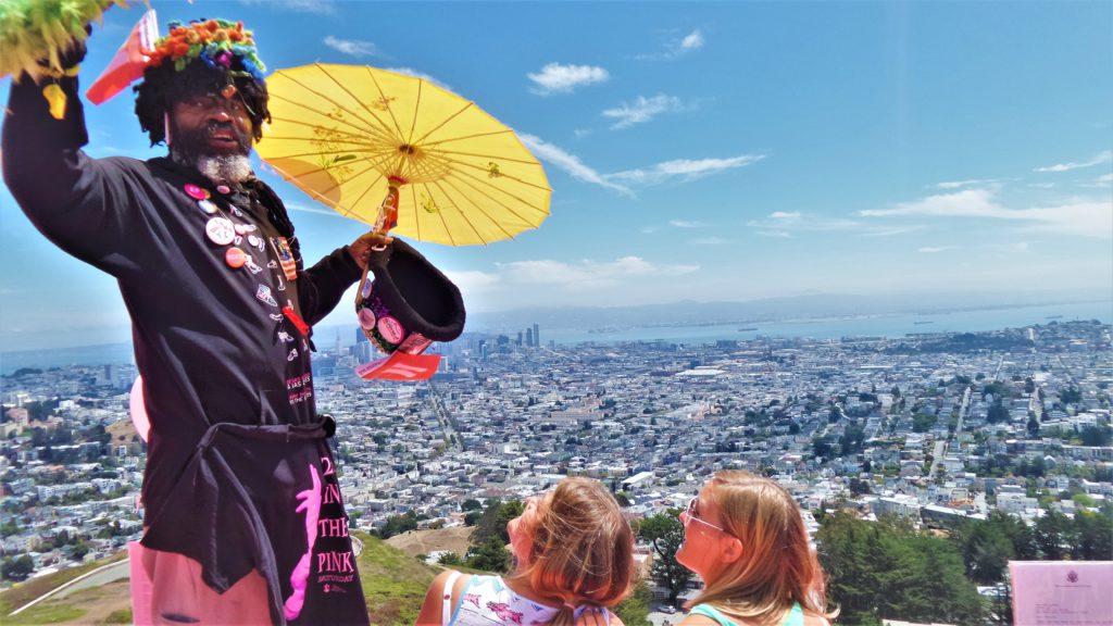 Memorabilia vendor, Twin peaks, san Francisco gay pride, USA
