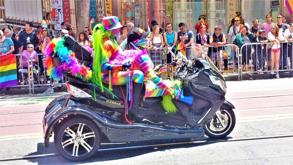 Motor bike three wheeler, San Francisco Gay Pride, California
