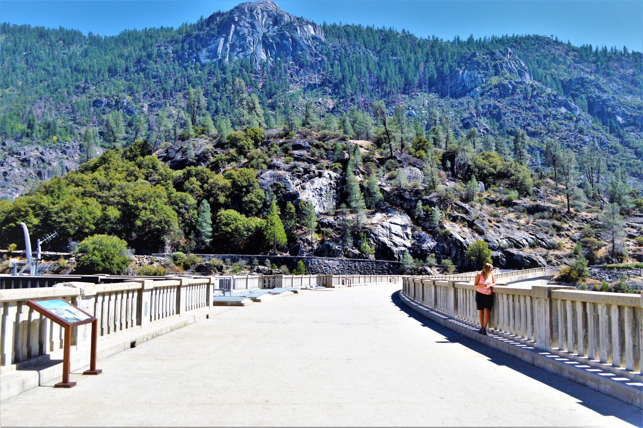 On top of hetch hetchy dam, California