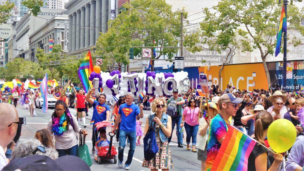 Parade at San Francisco gay pride, California