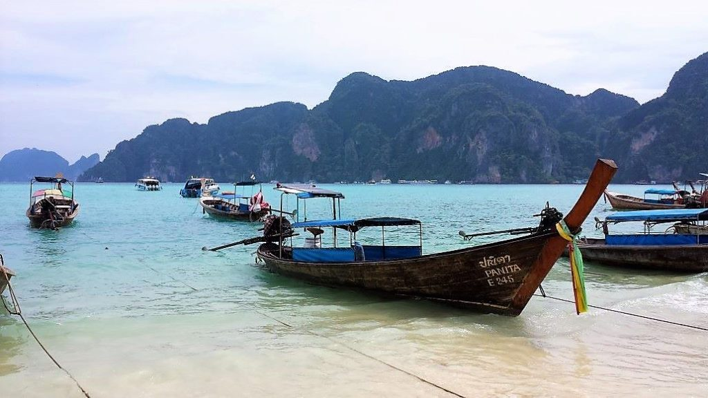 Phi Phi island, the beach, Thailand