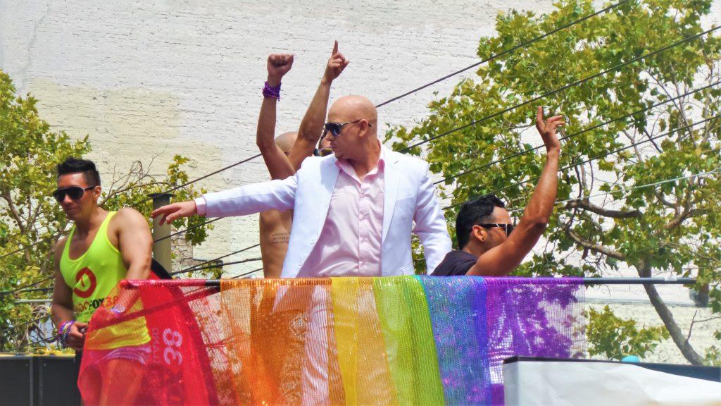 Pitbull at san francisco gay pride, california
