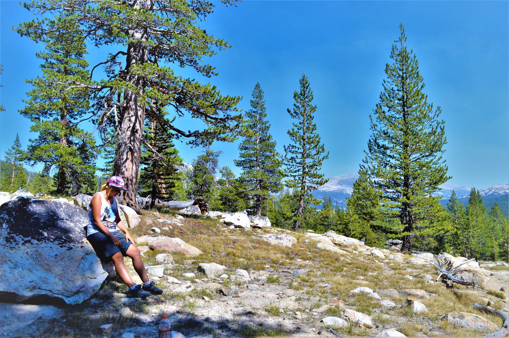 Resting on PCT, Yosemite National Park, California