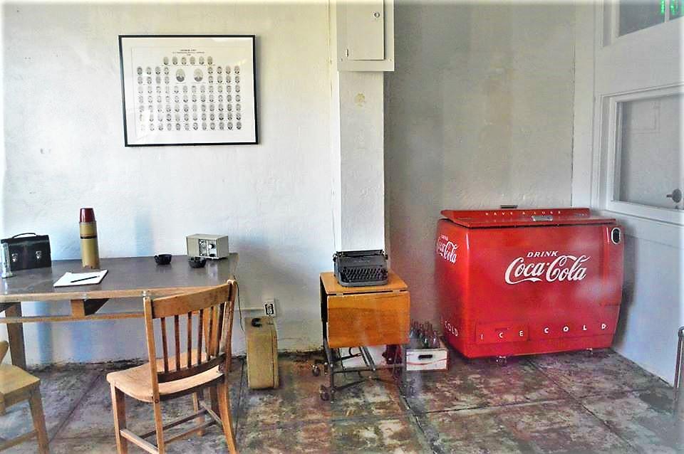 Retro Coke machine, control room, administration, Alcatraz, san Franciso