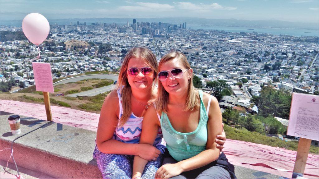 San Fancisco Gay Pride, selfie Twin peaks, USA