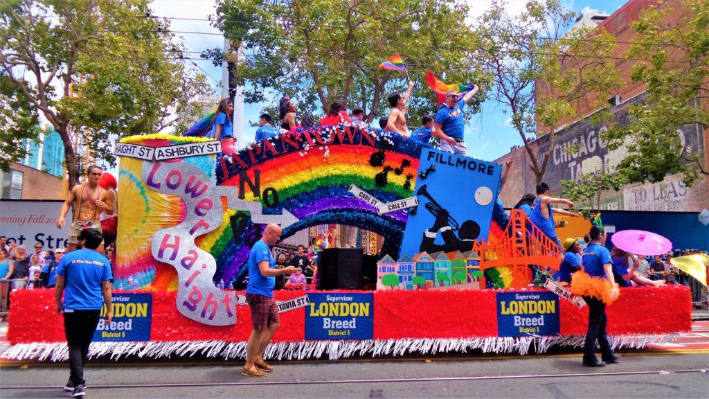 San Fran float, gay pride parade, san francisco
