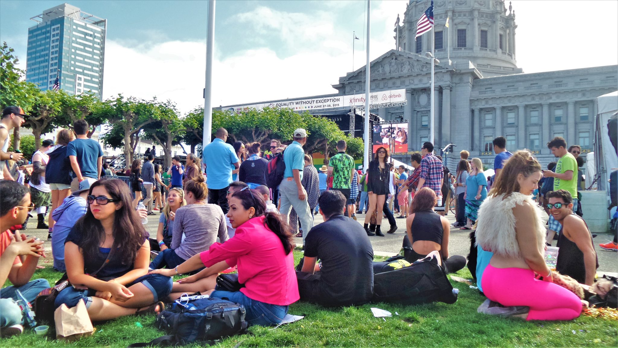 San Francisco Gay pride at the City Hall, California
