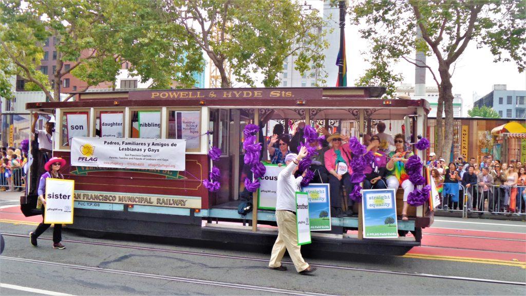 San Francisco tram, Gay pride parade, california