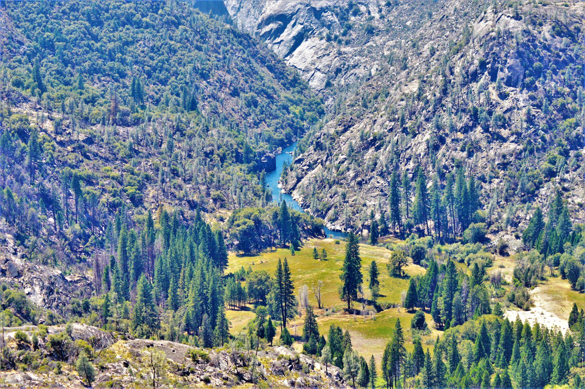 Scenery at Hetch Hetchy, California dam