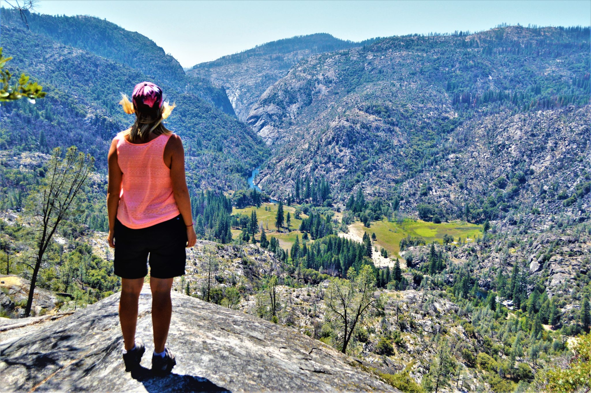 Standing at Hetch Hetchy Landscape, California