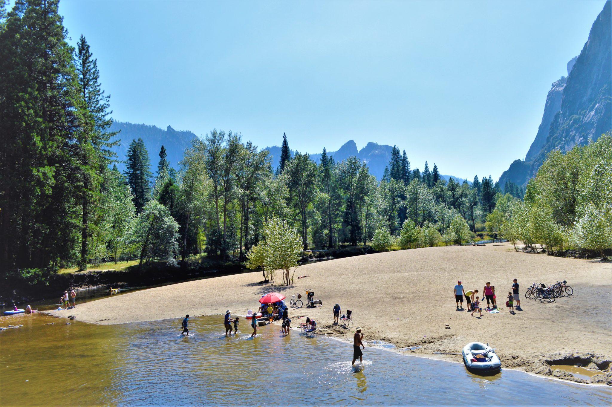 Swimming and dinghies, Yosemite National Park, California, things to do at yosemite