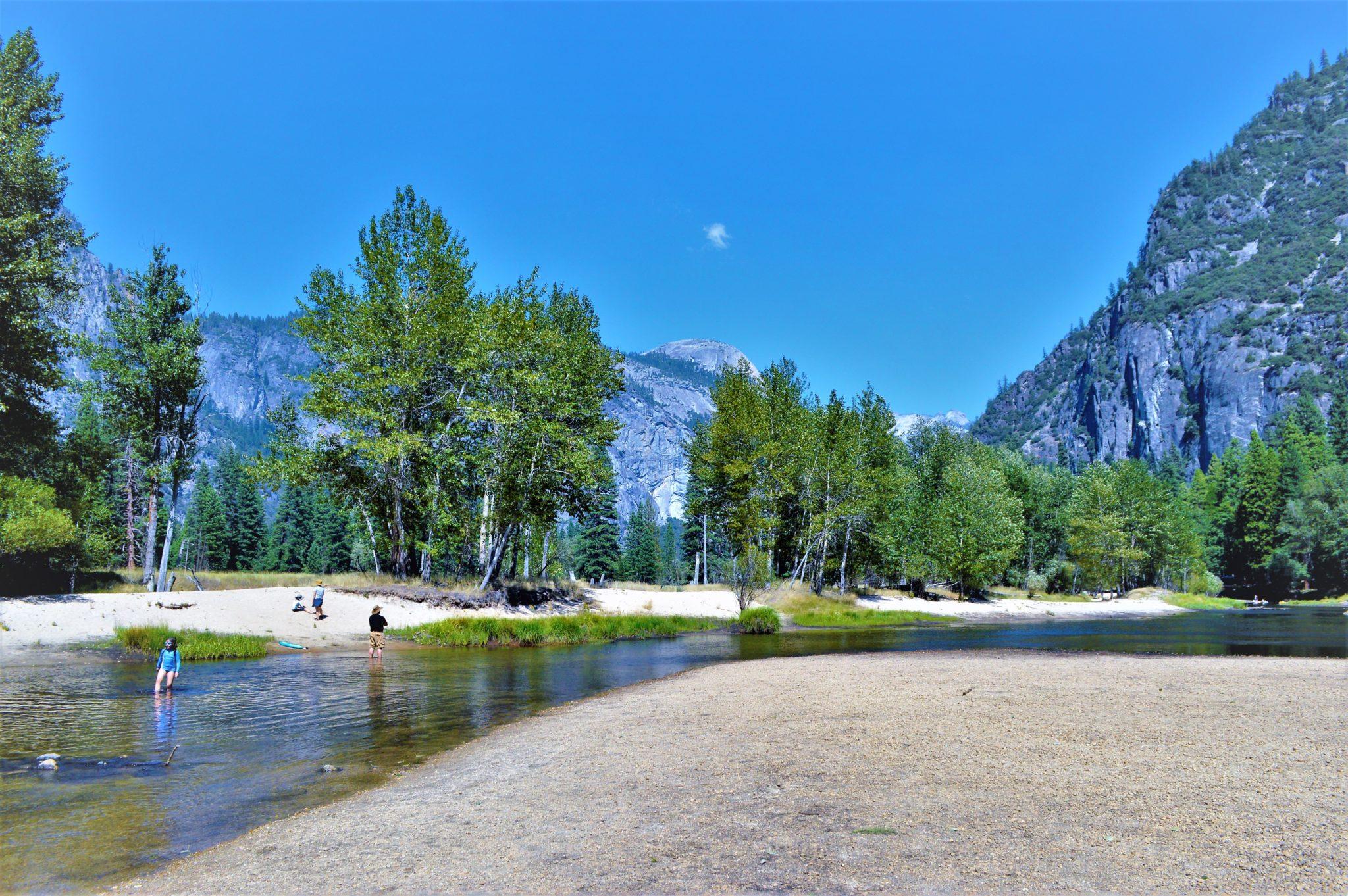 Swimming at Lake, Yosemite National Park, California