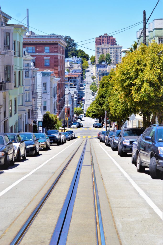 Tram line, San Francisco, USA