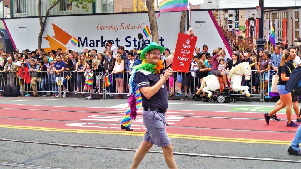 Unicorn in San Francisco gay pride parade