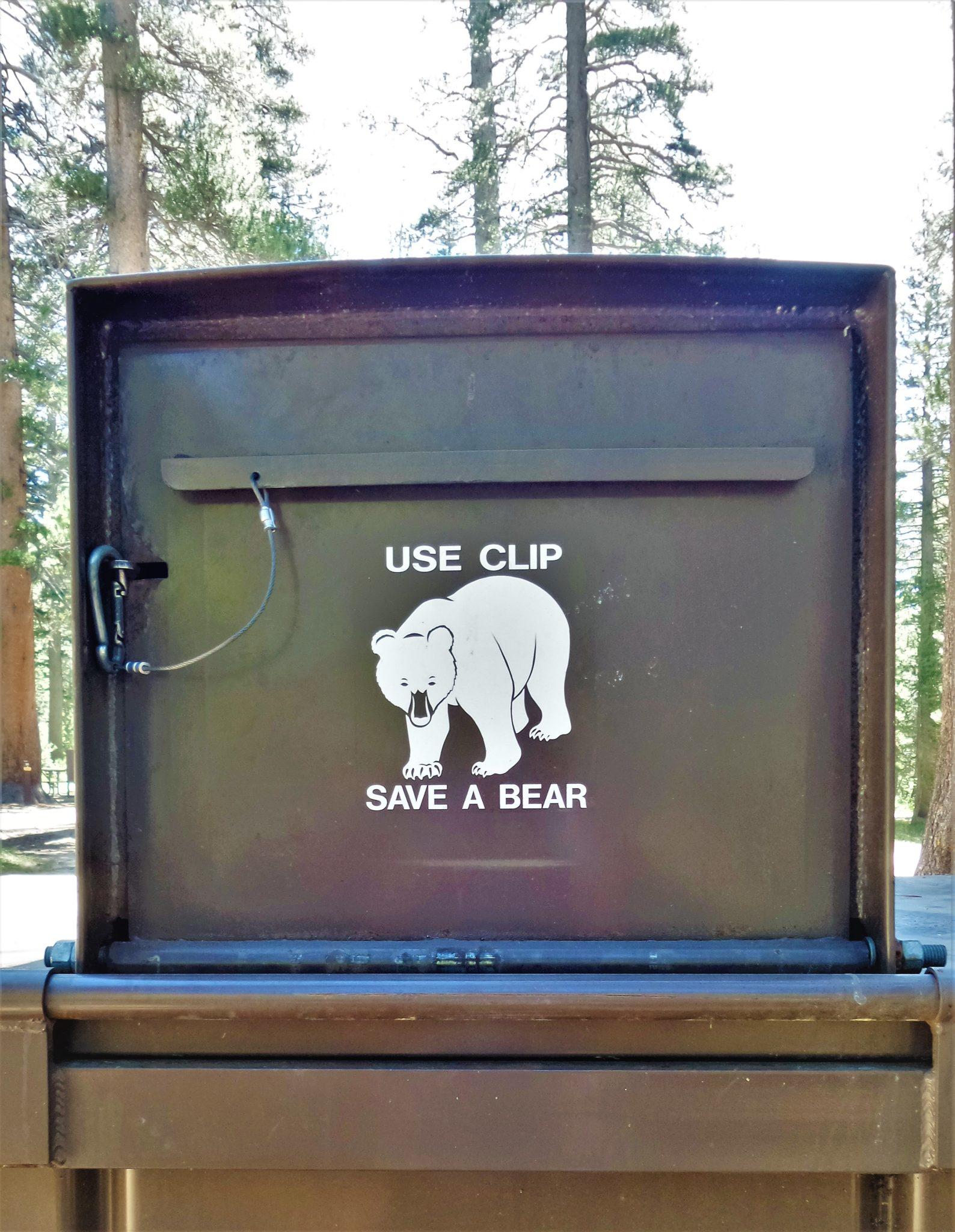 Use clip save a bear sign, Yosemite National Park, California
