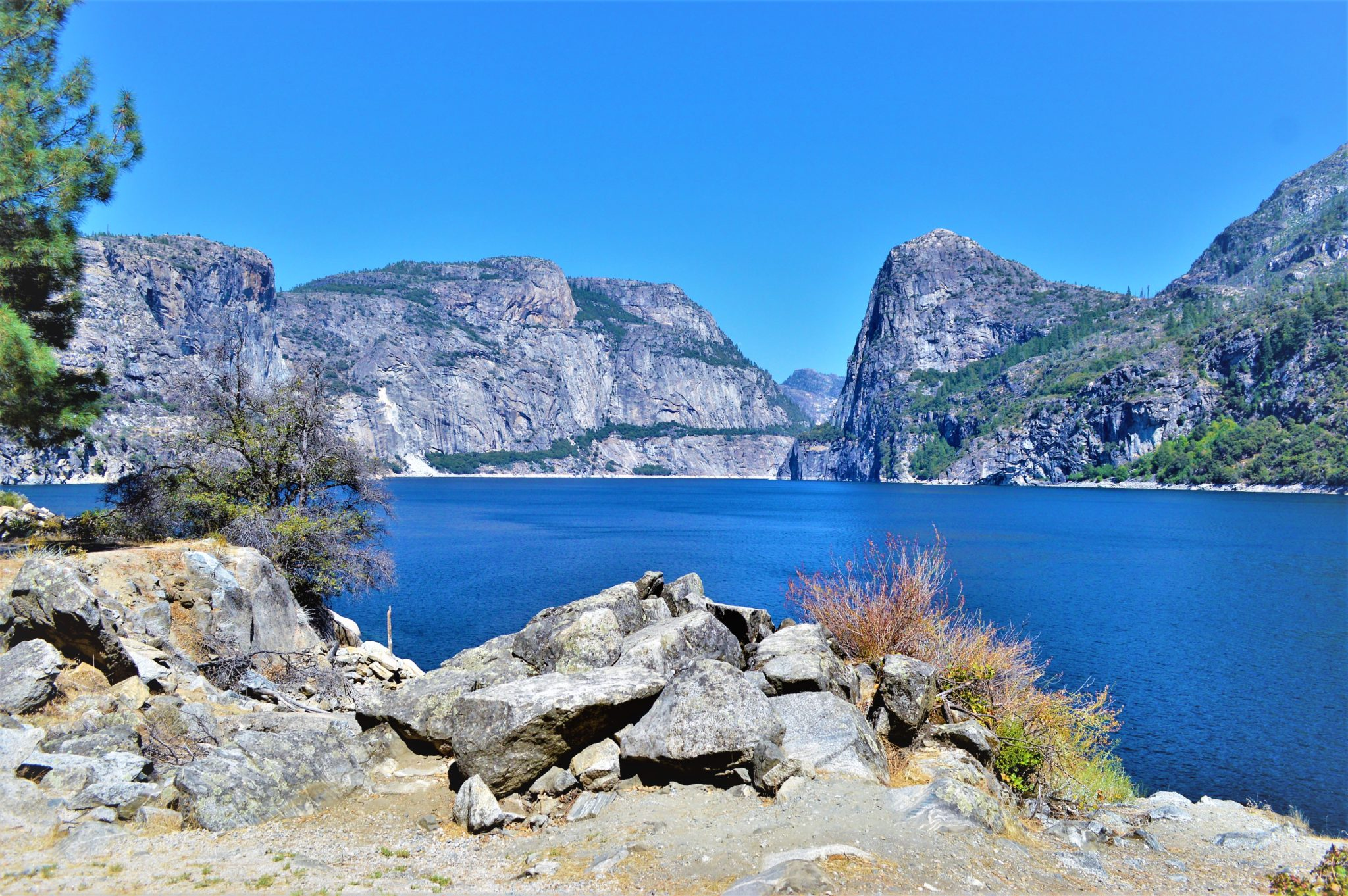 View from Hetch Hetchy trail head, California