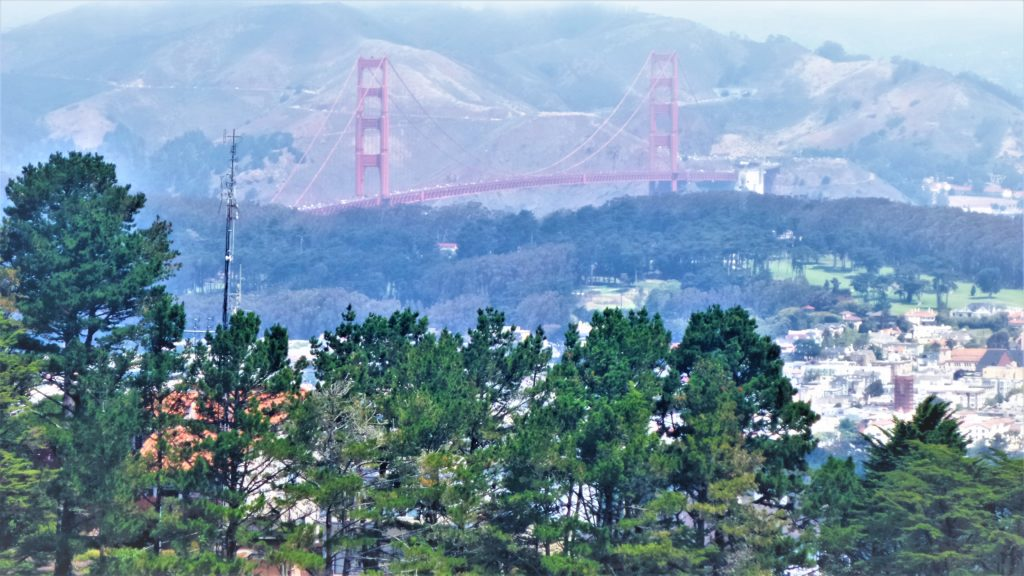 View of Golden Gate Bridge from Twin Peaks, San Francisco, California