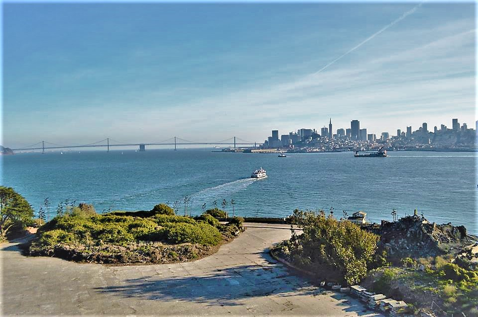 View of downtown San Francisco from Alcatraz Island