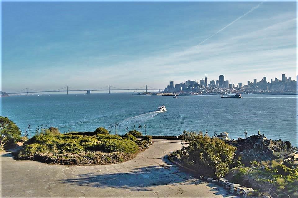 View of downtown San Francisco from Alcatraz Island