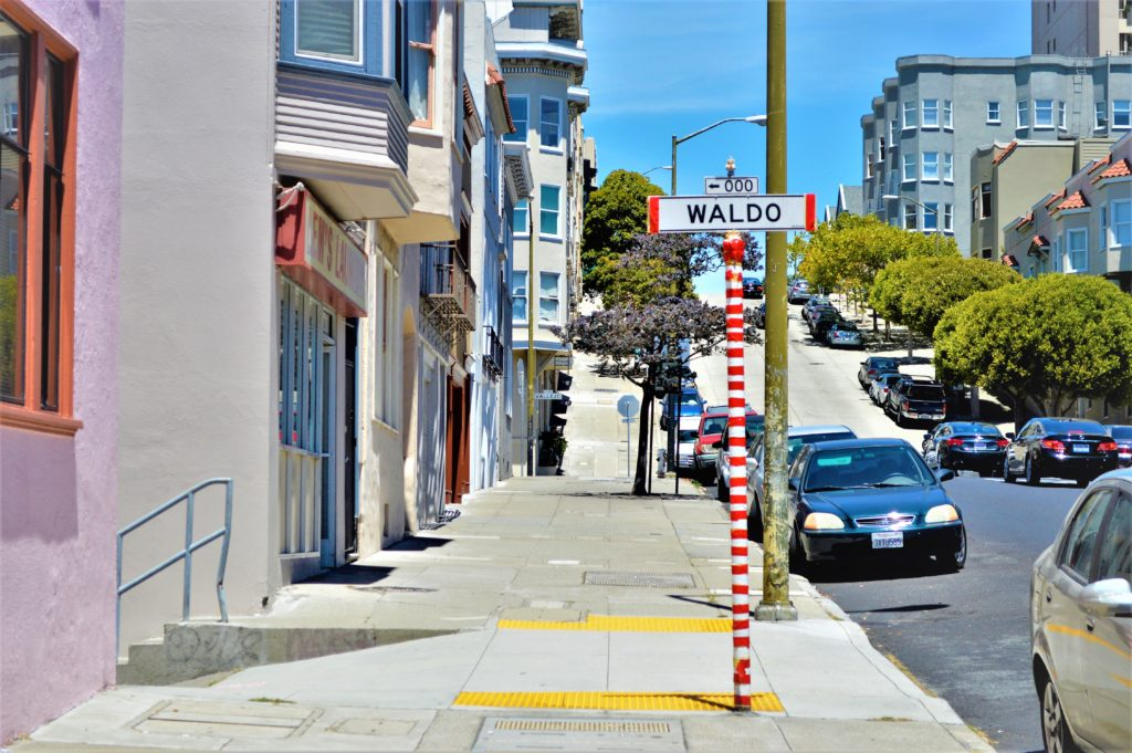Waldo street sign, San Francisco, USA