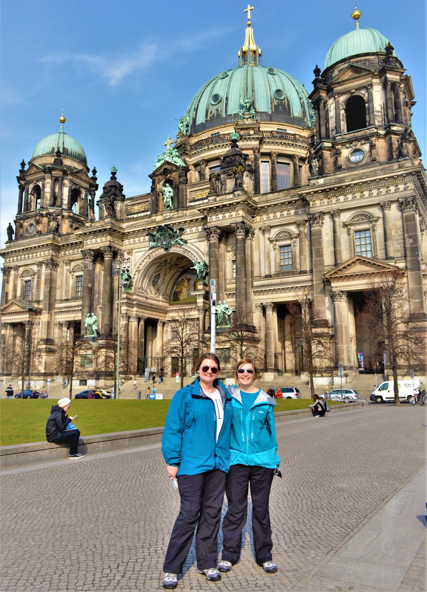 Arcteryx jacket, Berlin Cathedral, Germany