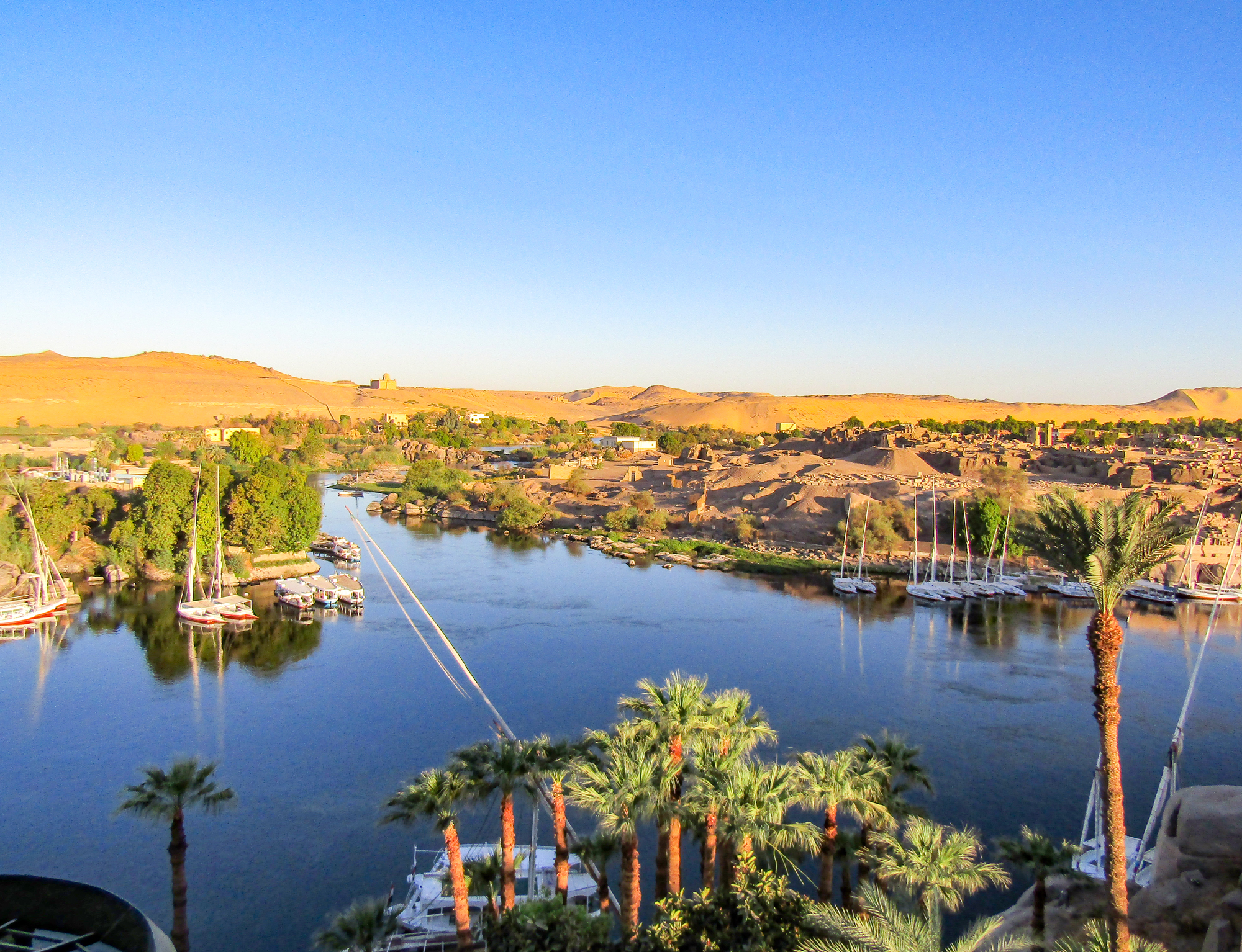 First Cataracts in the Nile, Aswan, Egypt