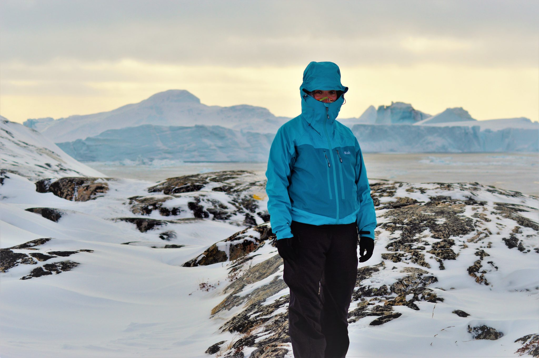 Ice fjord, rab jacket review, neoshell for women