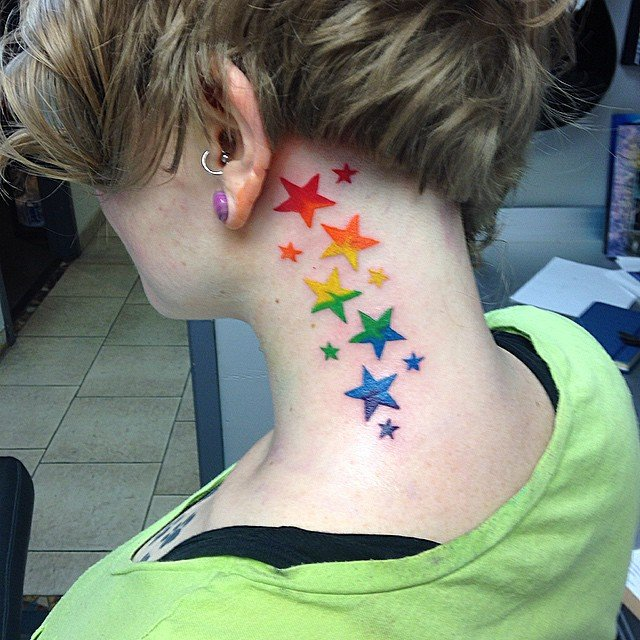 Lesbian star tattoo