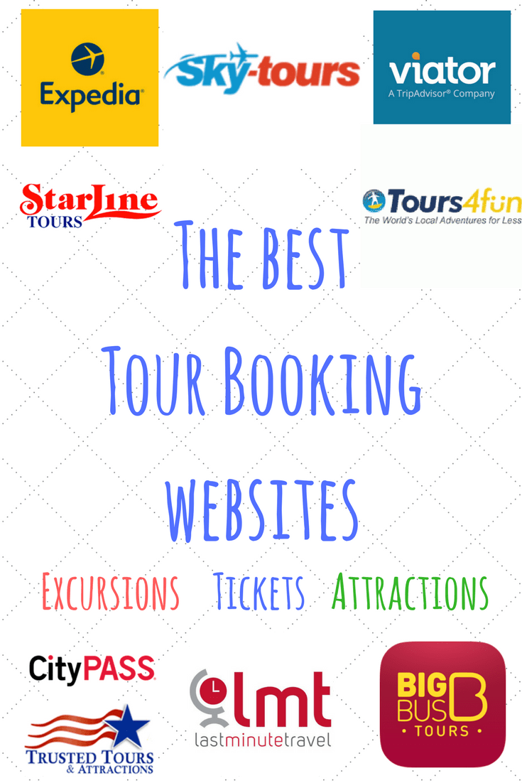 List of attraction excursion and tour booking websites for Best travel booking sites