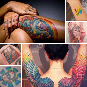 The best lesbian tattoos and rainbow tattoos
