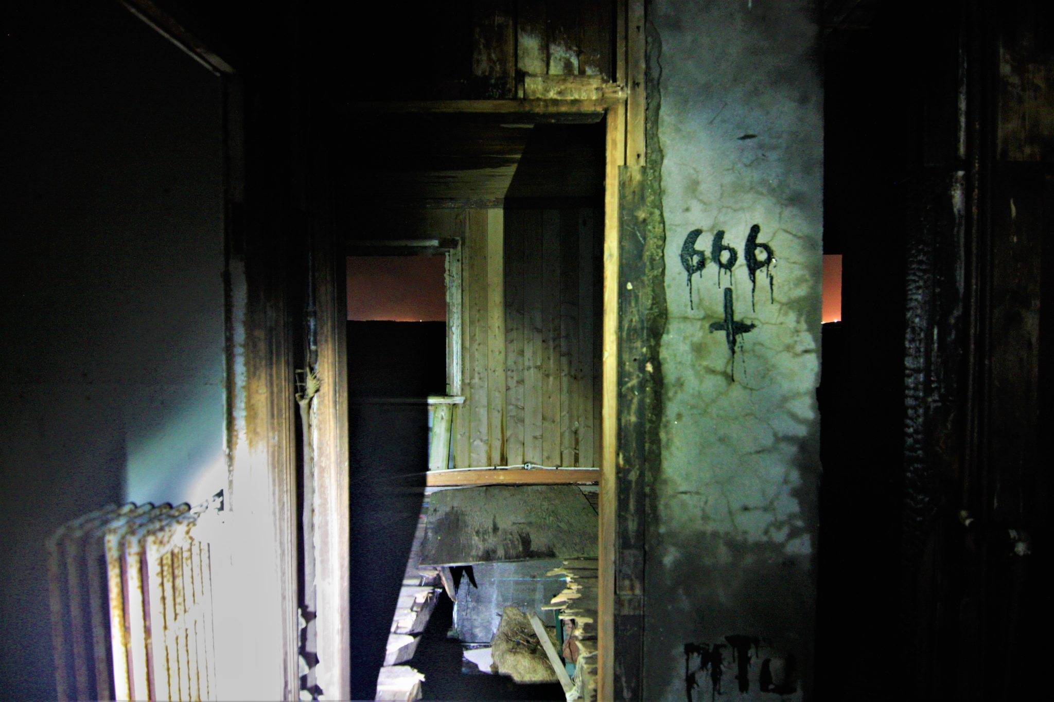 666 inside the ghost house, Happy World Northern Lights tour, Iceland