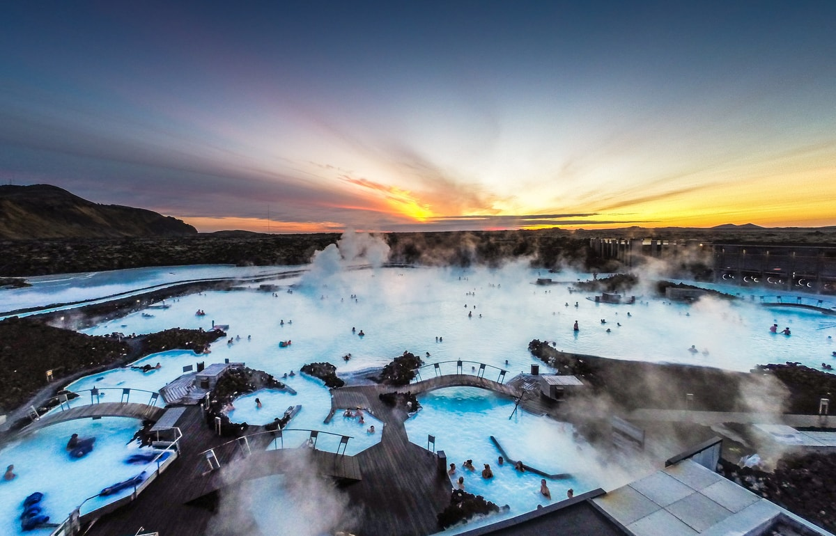 Blue Lagoon Transfer bus Travel Iceland