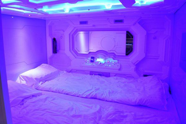 Galaxy pod hostel, bedroom, Reykjavik, Iceland
