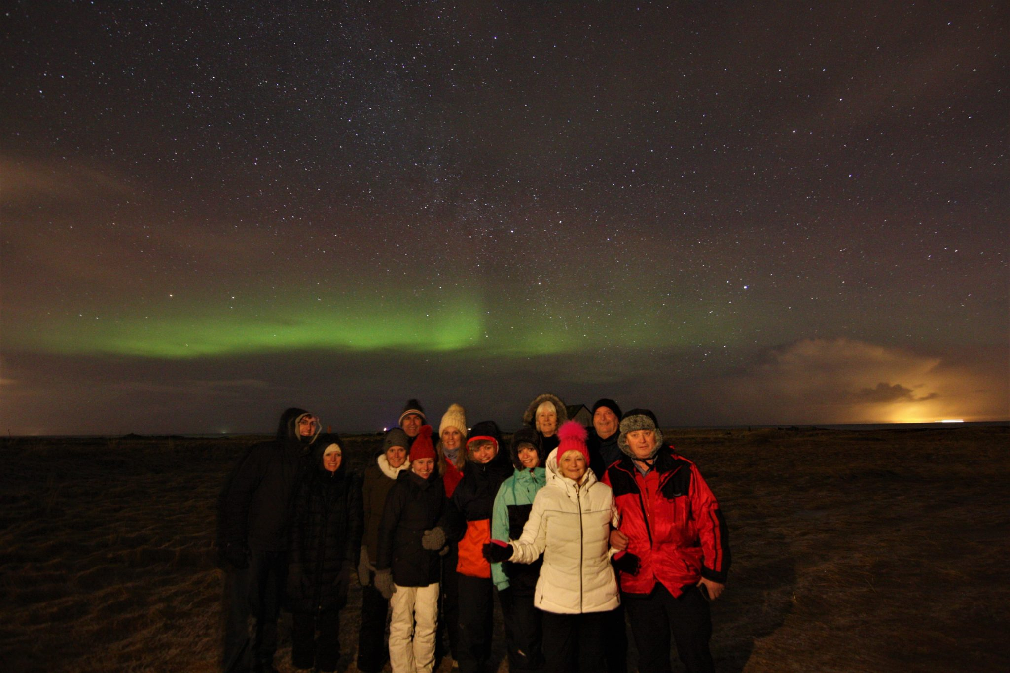 Group tour, Happyworld Northern Lights tour, Iceland