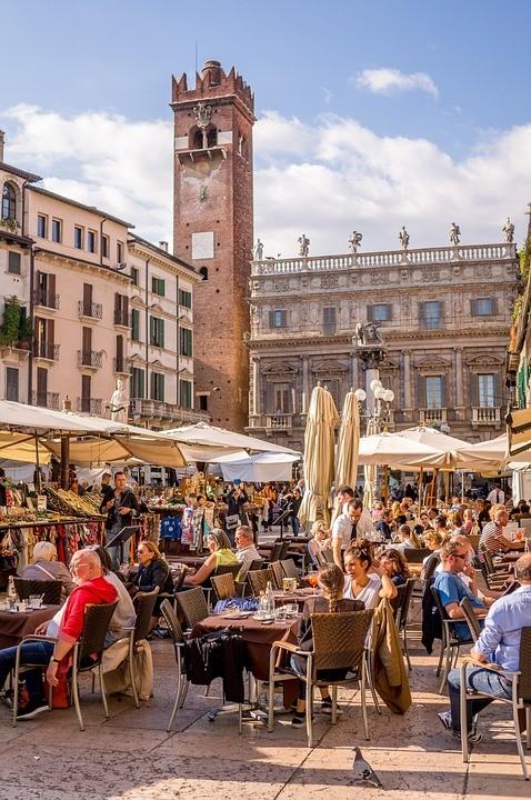 Things to do in verona, Italy, Piazza delle Erbe Verona