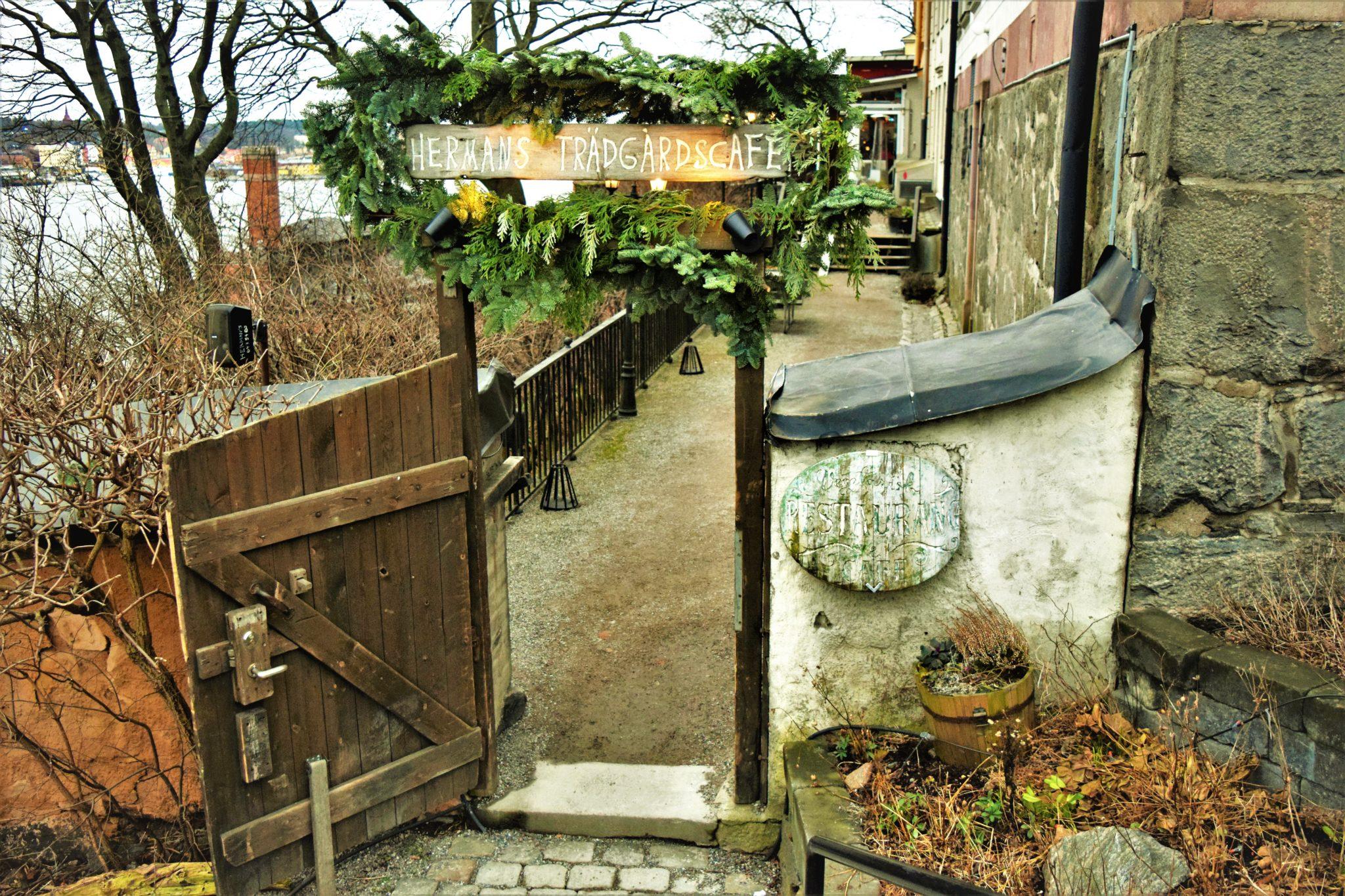 Front entrance, hermans vegan buffet, stockholm, sweden