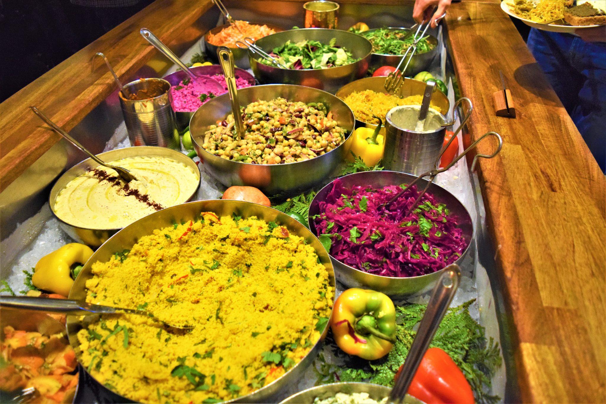 Hermans vegan buffet stockholm, sweden