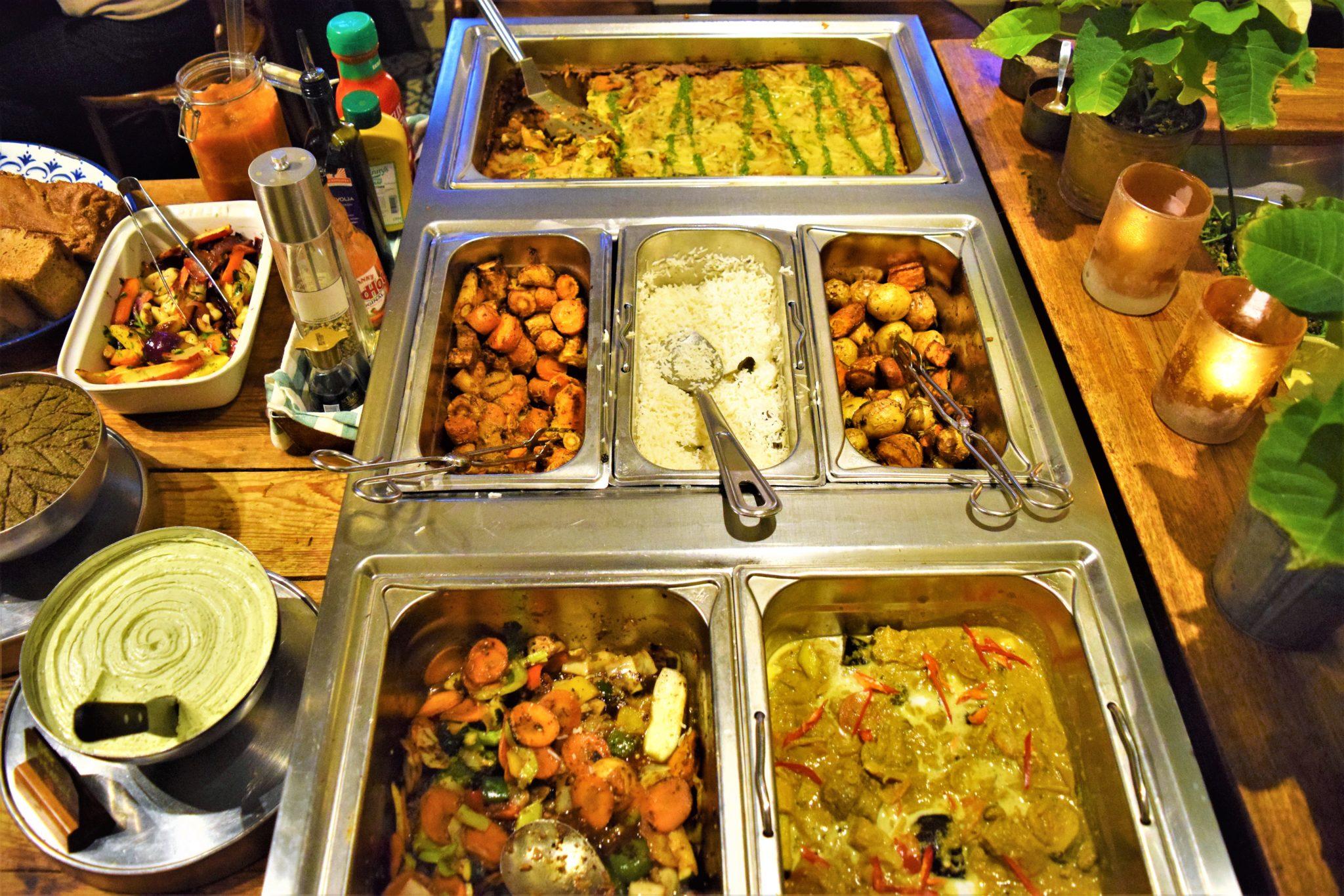 Hermans vegan buffet, stockholm, sweden