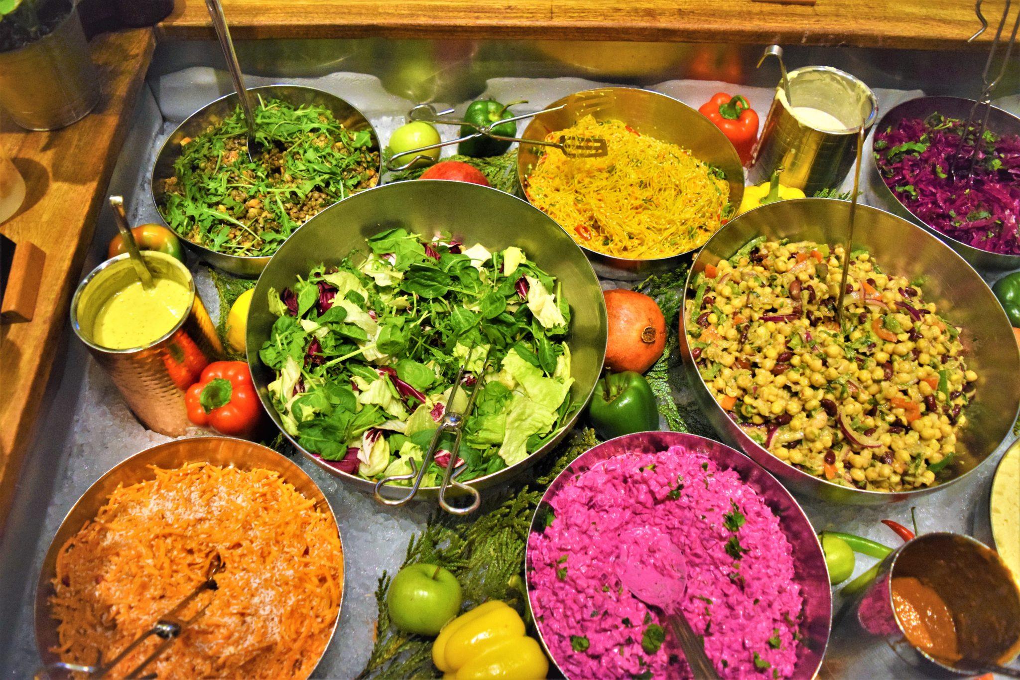 Vegan food stockholm, sweden, buffet