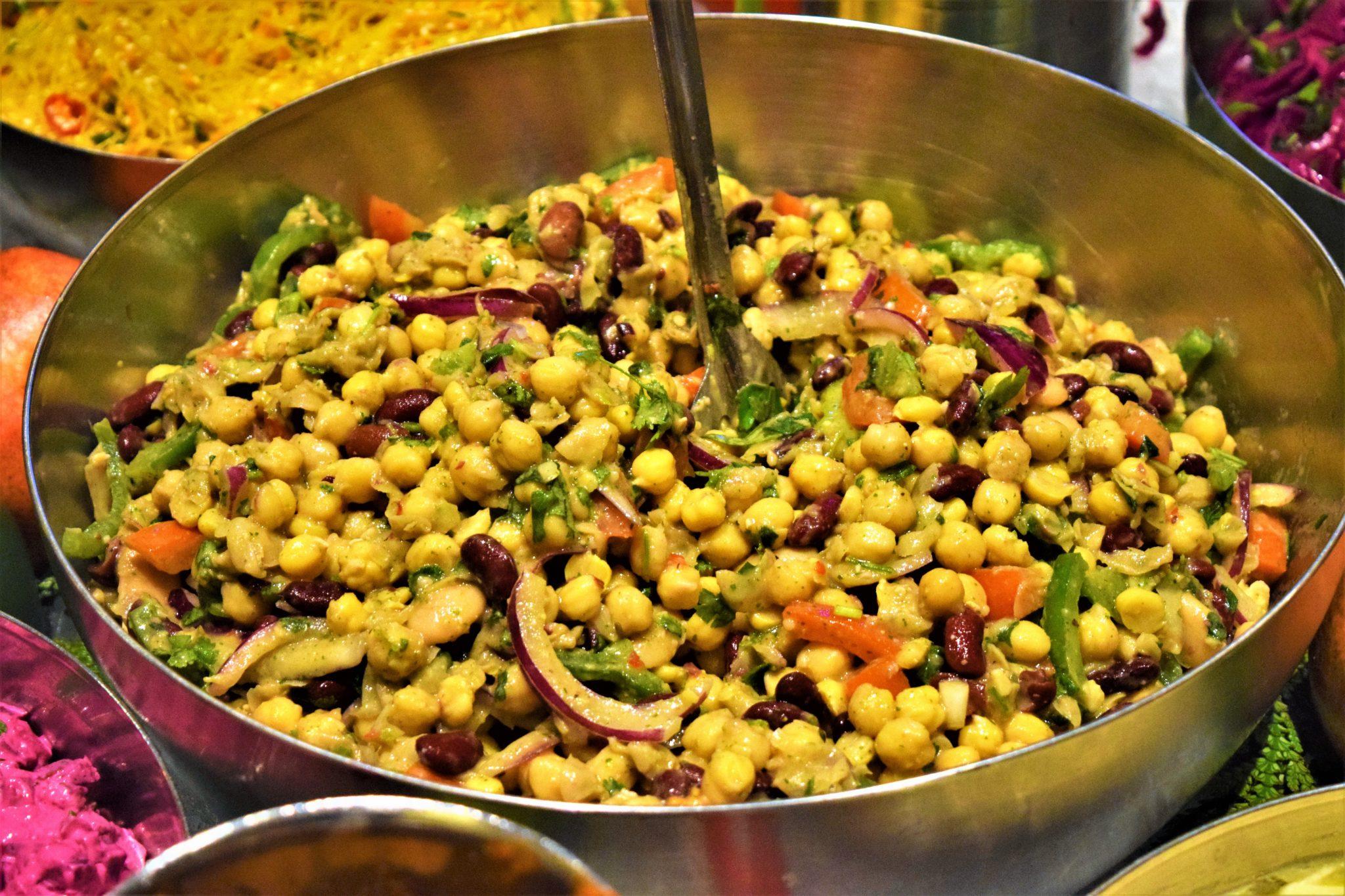Vegan buffet at hermans, stockholm, sweden