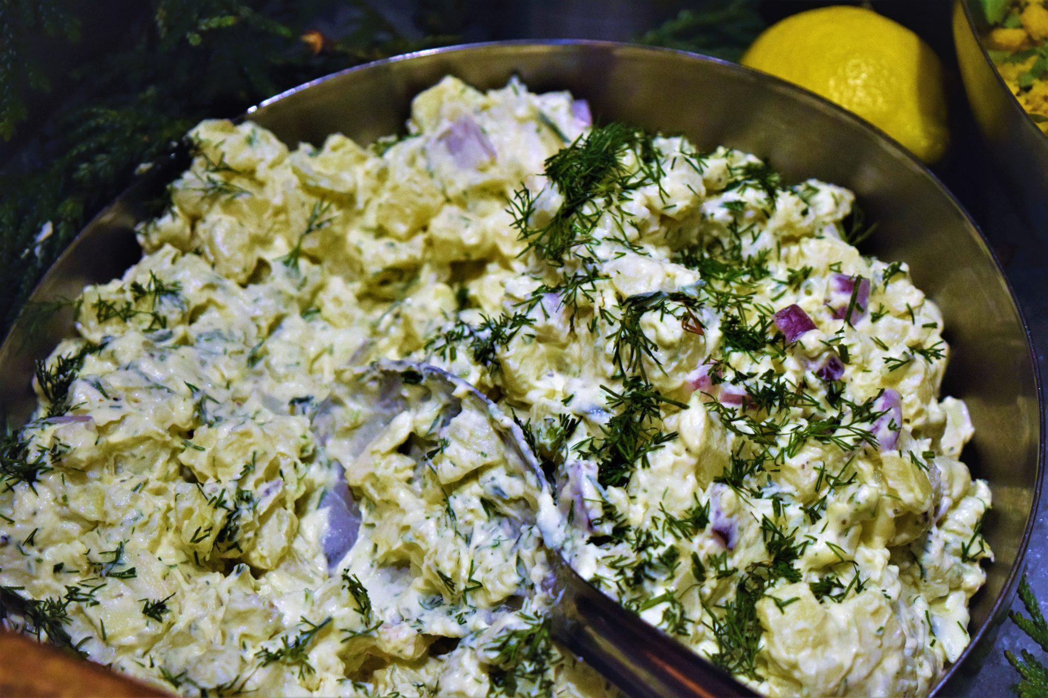 Potato salad, hermans vegan buffet, stockholm, sweden