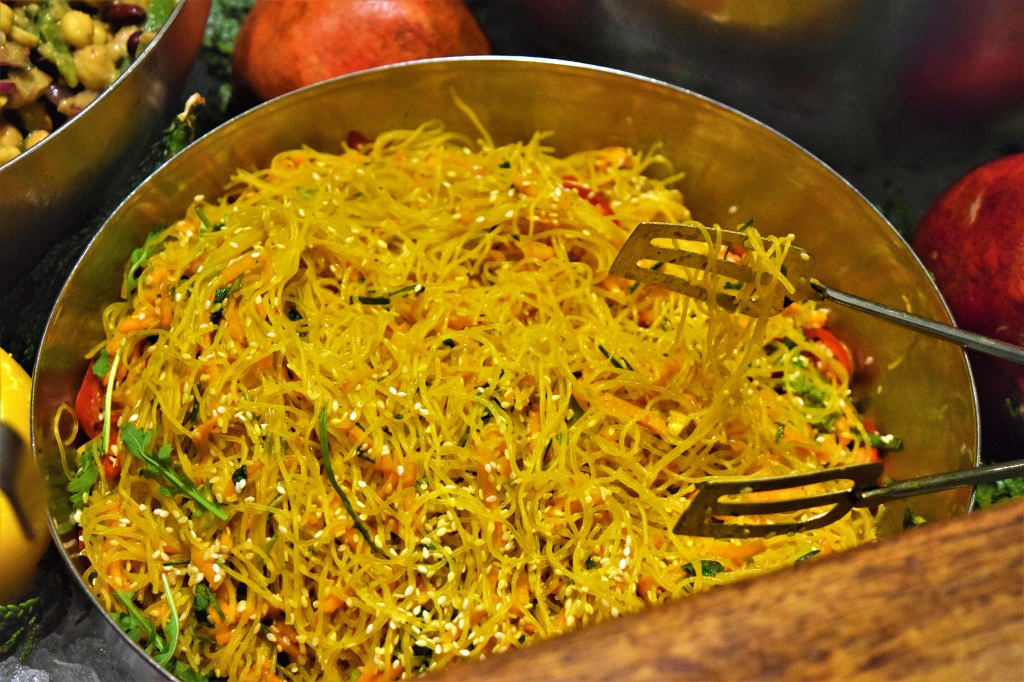 vegan food in stockholm, sweden, hermans buffet