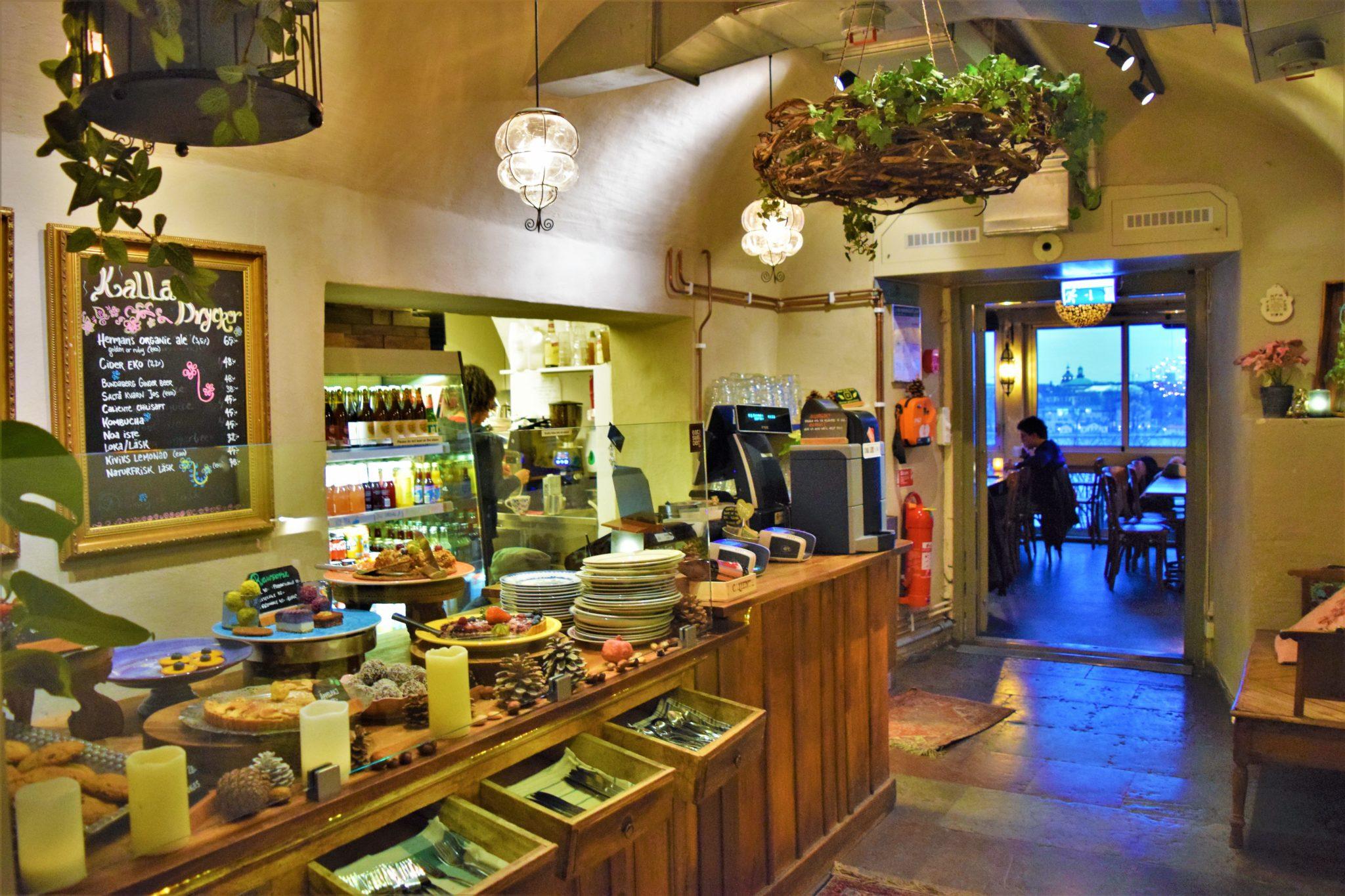 Reception area, hermans vegan buffet, stockholm, sweden