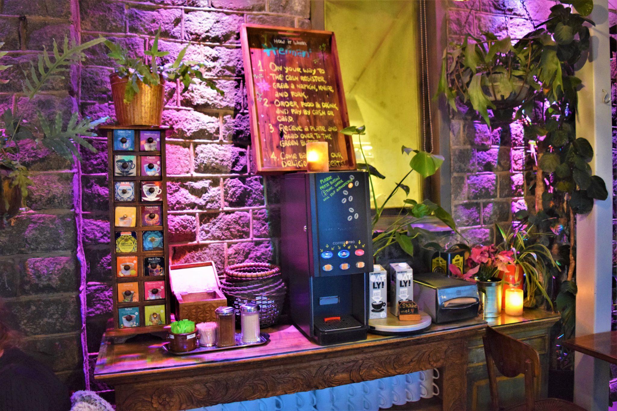 Coffee, Herman's vegan buffet, stockhom, Sweden