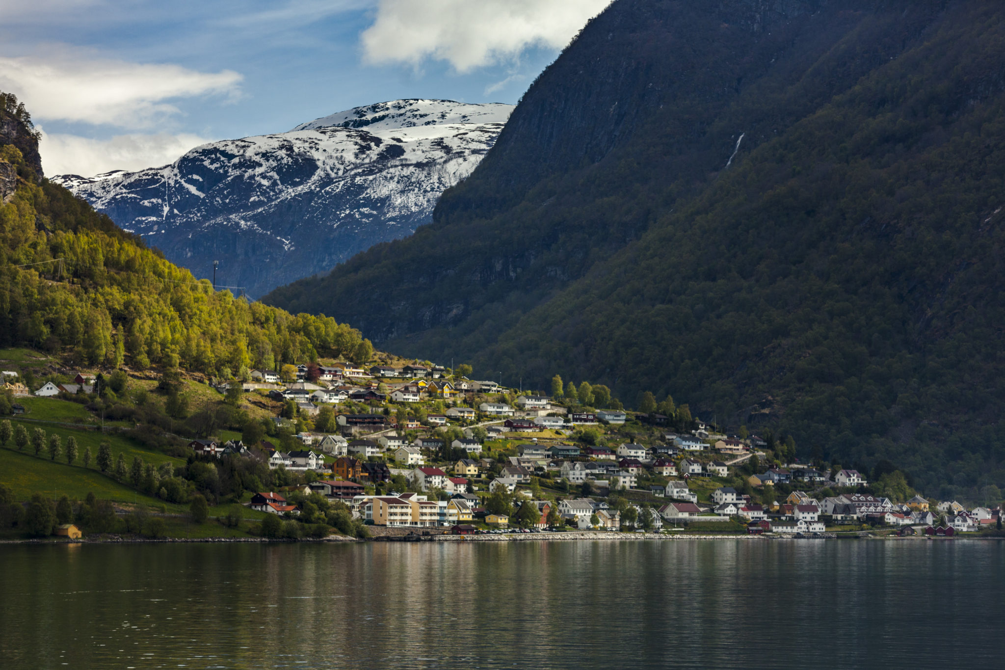 Norway Flam Village Mountains Fjord - Jeff Garriock, Trip to Norway