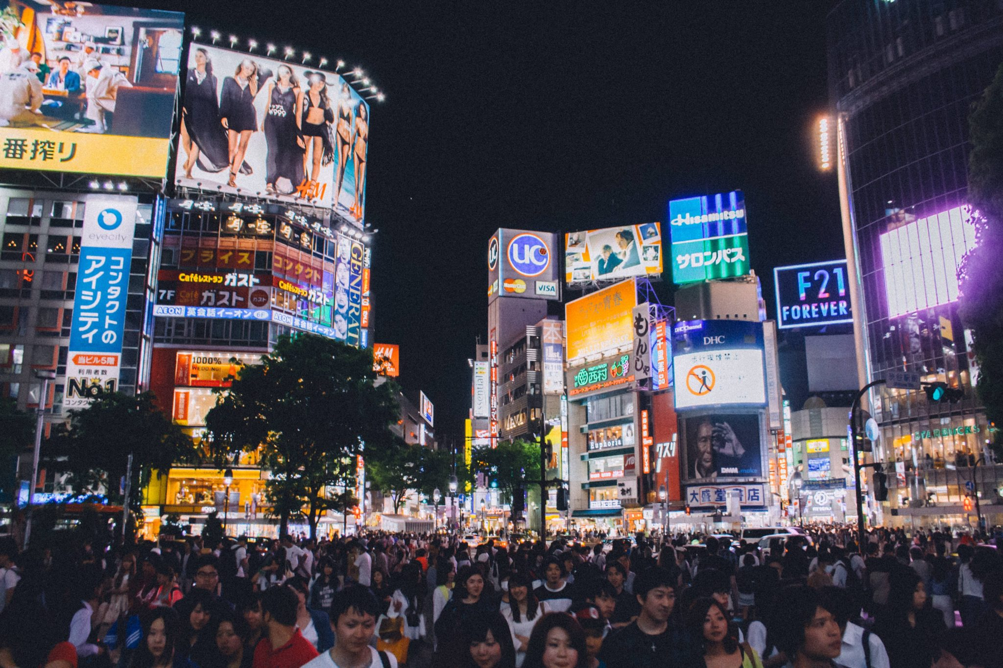 flights to Australia - Top layover destinations Tokyo at night