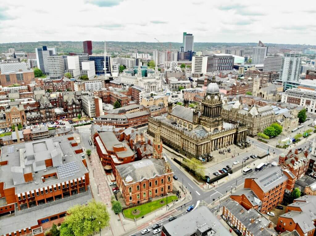 Areal view of Leeds