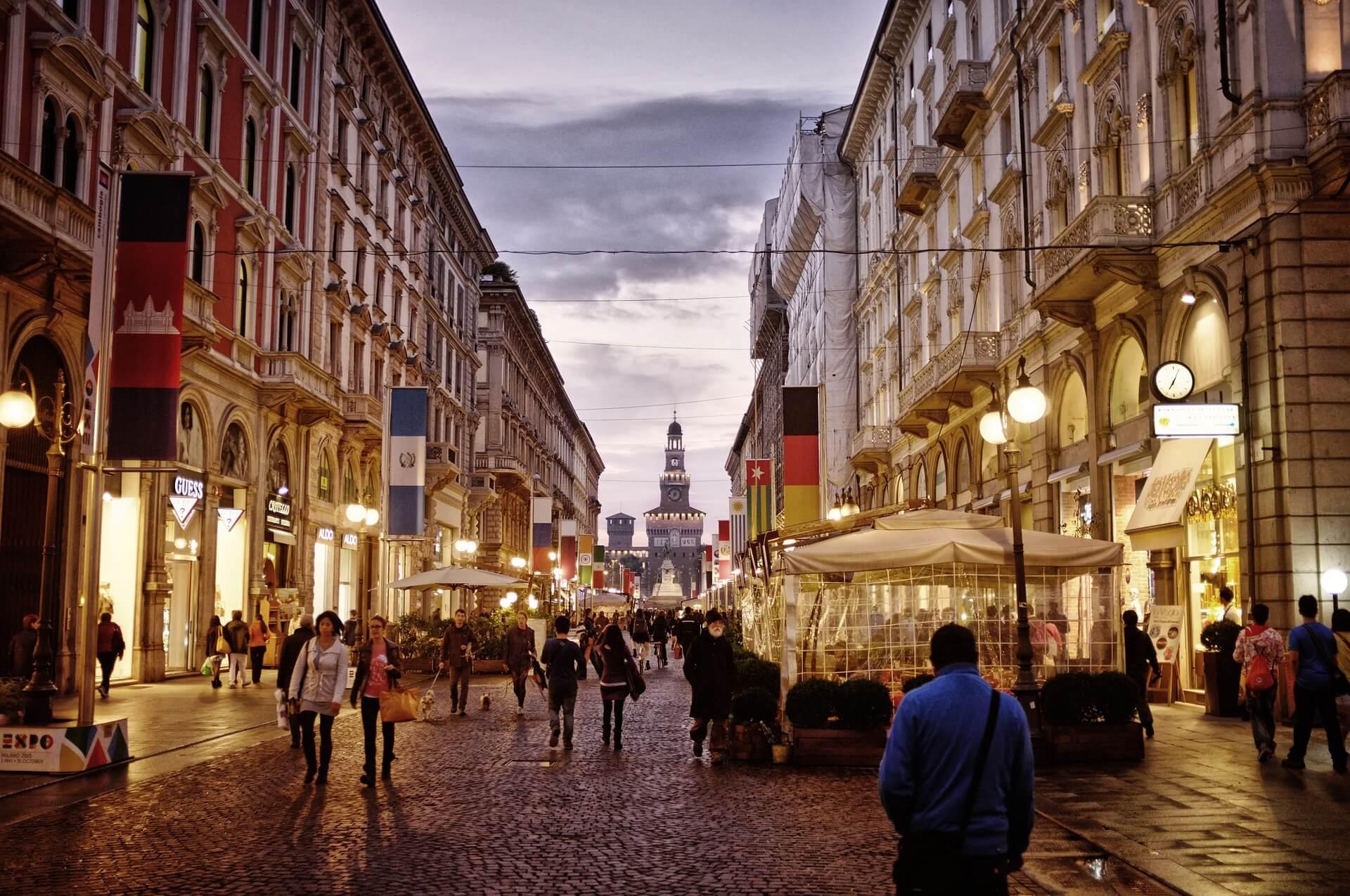 Milan city centre
