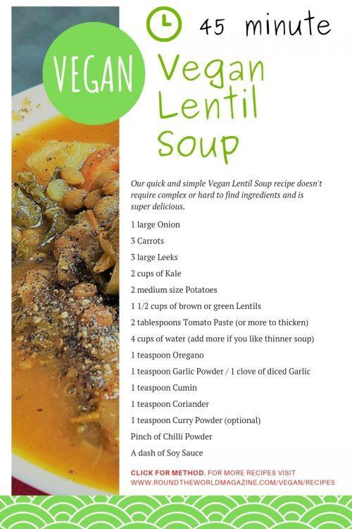 Vegan Lentil Soup Recipe